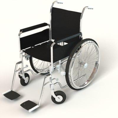 3d model wheel chair wheelchair