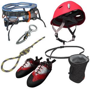 3d model climbing equipment