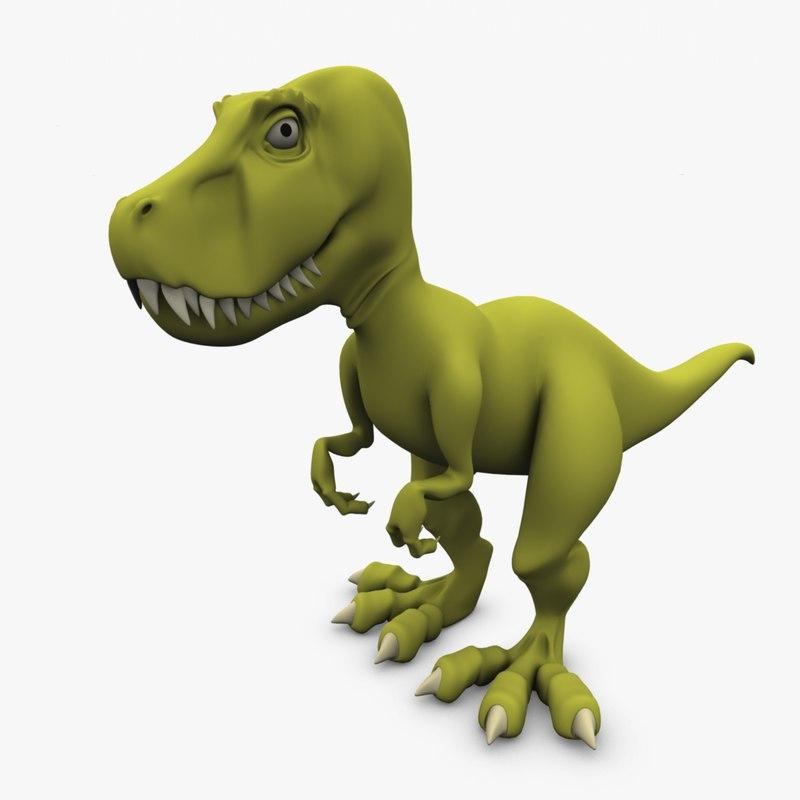cartoon tyrannosaurus rex 3d obj