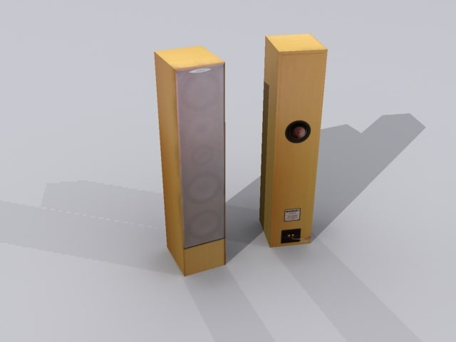 3d model ready loudspeaker