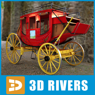stagecoach coach 3d model