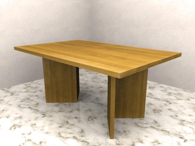 3d table office livingroom model