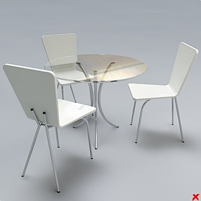 free table set 3d model