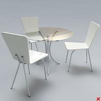 free table set 3d model