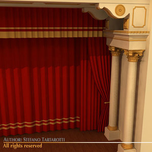 theatre stage 3d model