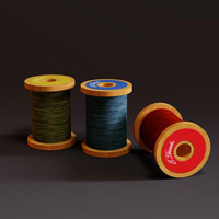 thread spool 3d model