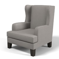 wing chair armchair 3d max