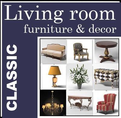 3d model furniture classical home decor