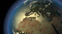 3ds max realistic earth borders