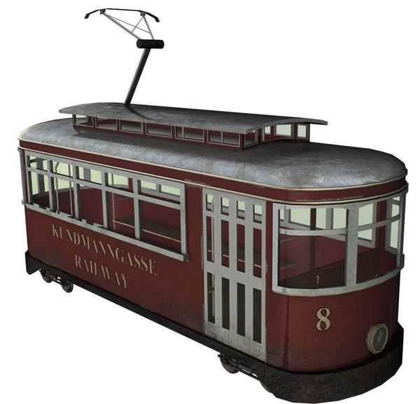 tram passenger lilpop 3d model