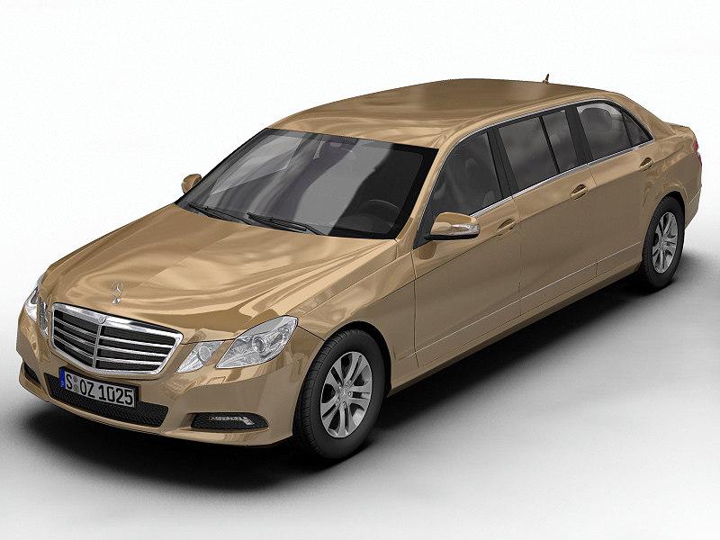 mercedes benz e-class 3d model