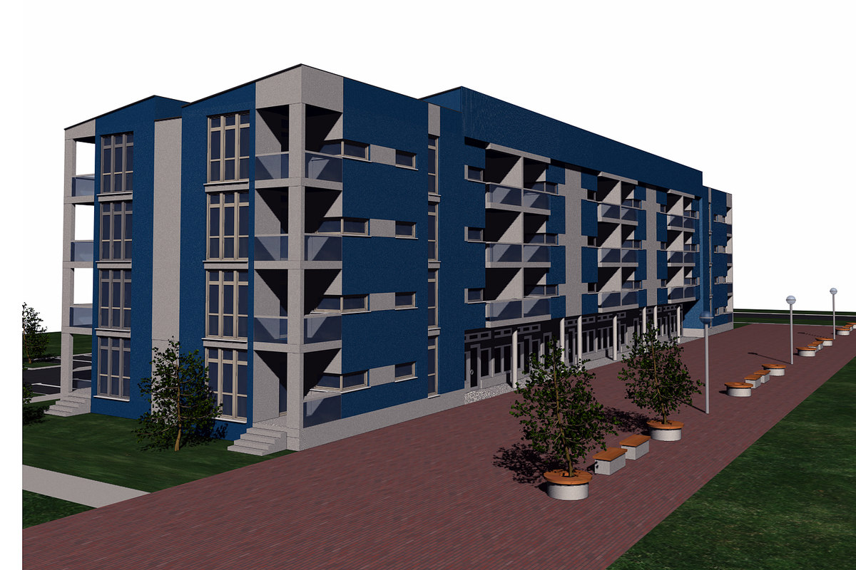 office residential building 3d model