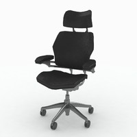 3d model humanscale freedom chair