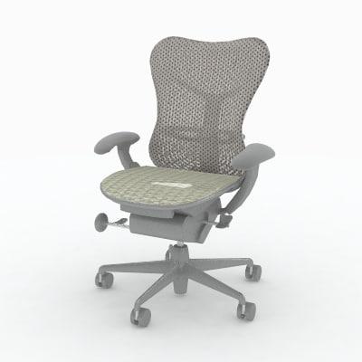 herman miller mirra chair 3d model