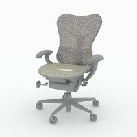 herman miller mirra chair 3d model