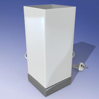 3ds max square lamp