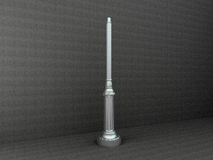 antique street lamp 3d model