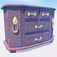 antique jewelry box 3d model