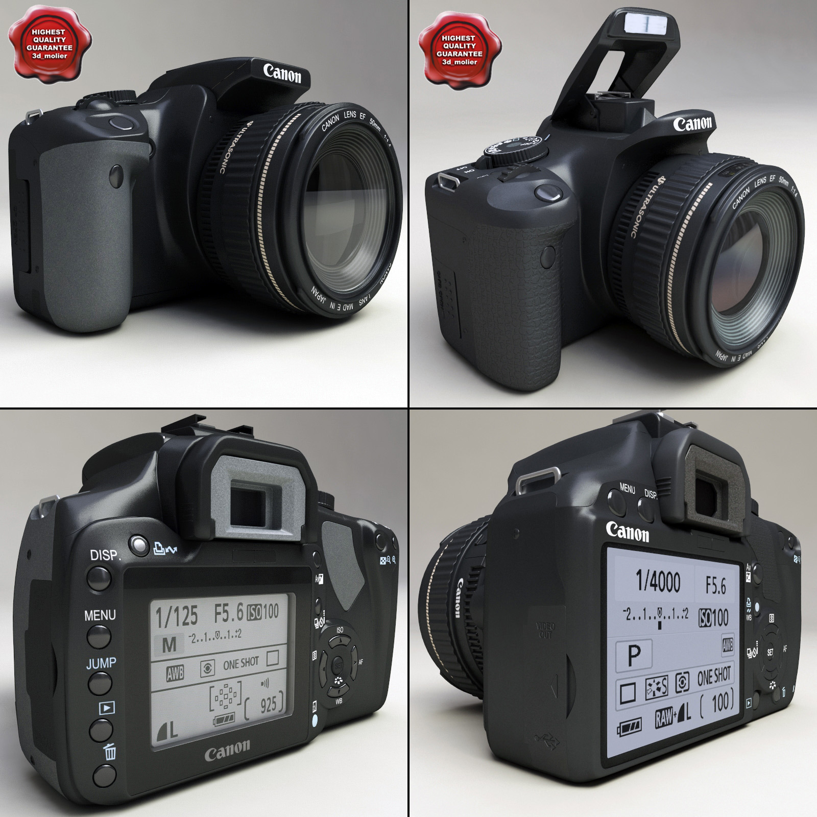 canon eos 400d 450d 3d model