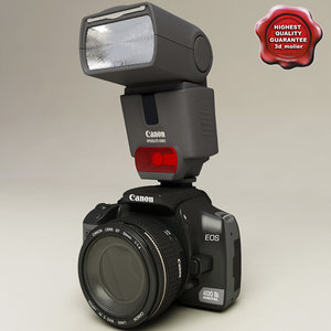 3d model canon eos 400d speedlite