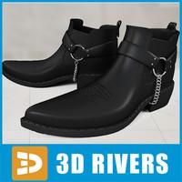 3d model cowboy boots