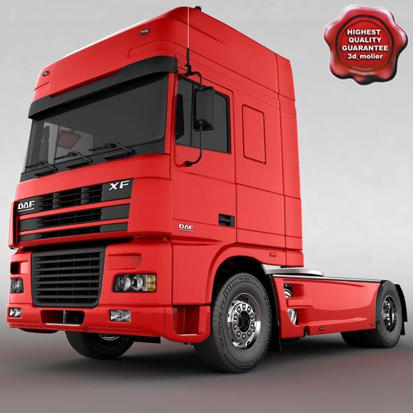 daf xf truck 3d max