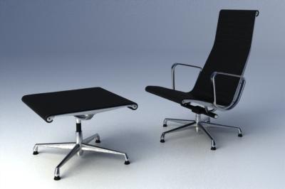 eames aluminium group lounge chair 3d max