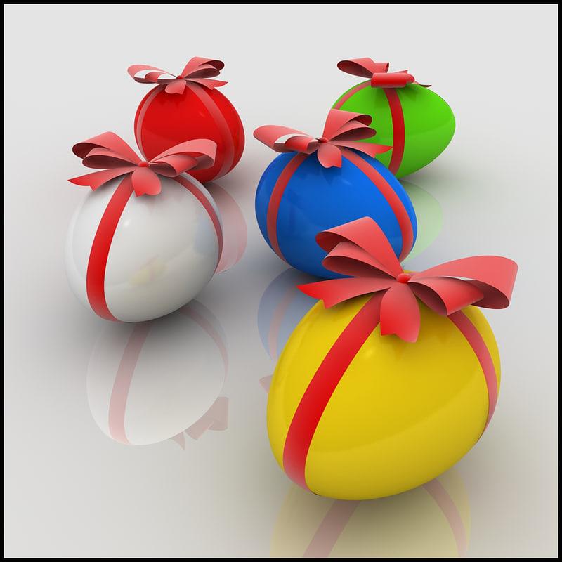 egg ribbon 3d model