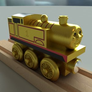 3ds max thomas tank engine wooden