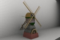 historical dutch watermill 3ds