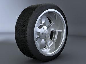 3d 5 spoke alloy wheel model