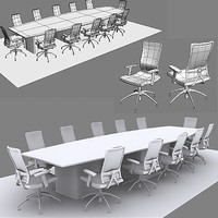 3d chairs office table