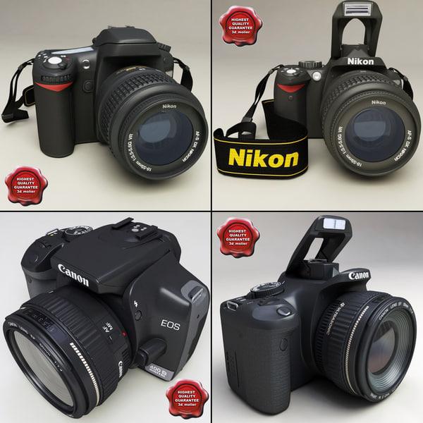 photo cameras v1 3d model