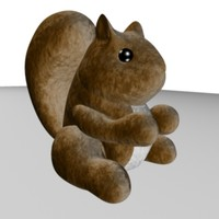 3d model plush squirrel toy