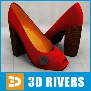 red heels 3d 3ds