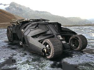 batmobil car 3d model