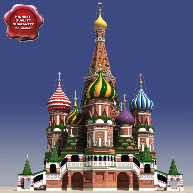 saint basils cathedral 3d model