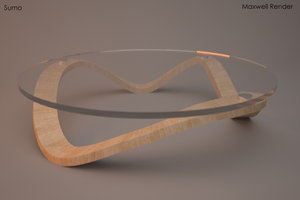 sumo coffee table 3d model