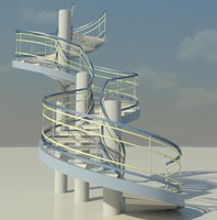 stair steps 3d model