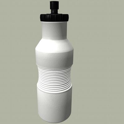 plastic water bottle 3d c4d