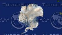 antarctica maps 3d model