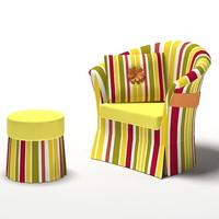 armchair chair ottoman max