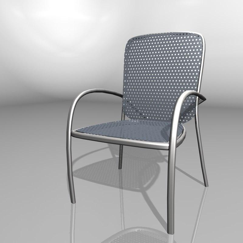 cinema4d plastic chair