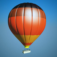 hot air balloon 3d max
