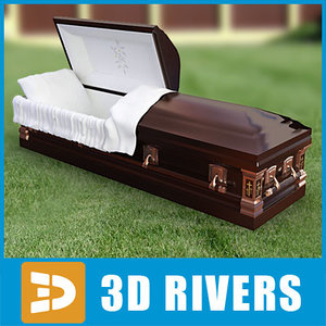 big black coffin 3d model