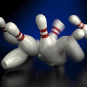 bowling pins accurately scale 3d model