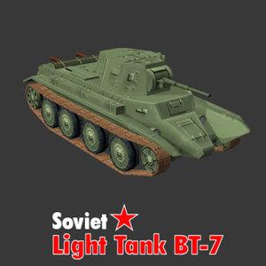 3ds max russian bt-7 light tank