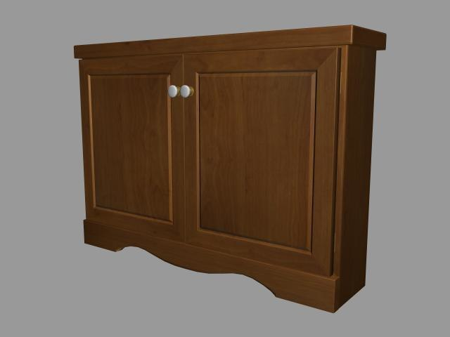 3d model hall cabinet