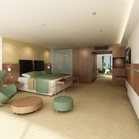 guest room hotel 3d model