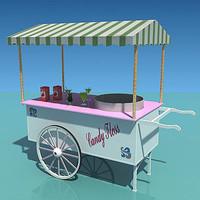 candy floss 3d model